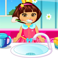 Dora Baby Care game